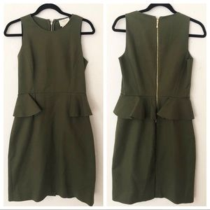 Olive Green Kate Spade Sheath Dress Size 4